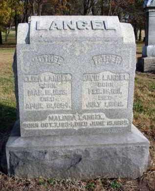 LANGEL, MALINDA - Fairfield County, Ohio | MALINDA LANGEL - Ohio Gravestone Photos