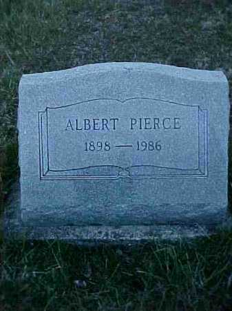 PIERCE, ALBERT - Fayette County, Ohio | ALBERT PIERCE - Ohio Gravestone Photos