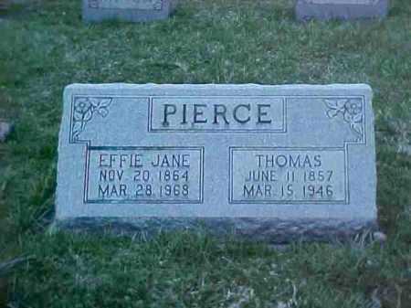 PIERCE, THOMAS - Fayette County, Ohio   THOMAS PIERCE - Ohio Gravestone Photos