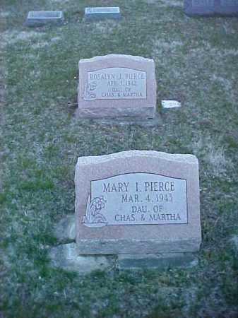 PIERCE, MARY I. - Fayette County, Ohio   MARY I. PIERCE - Ohio Gravestone Photos