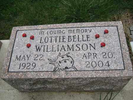 MORRIS WILLIAMSON, LOTTIE BELLE - Fayette County, Ohio | LOTTIE BELLE MORRIS WILLIAMSON - Ohio Gravestone Photos