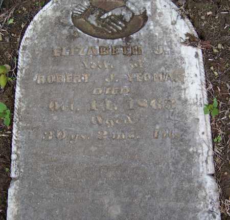 YEOMAN, ELIZABETH J. - Fayette County, Ohio | ELIZABETH J. YEOMAN - Ohio Gravestone Photos
