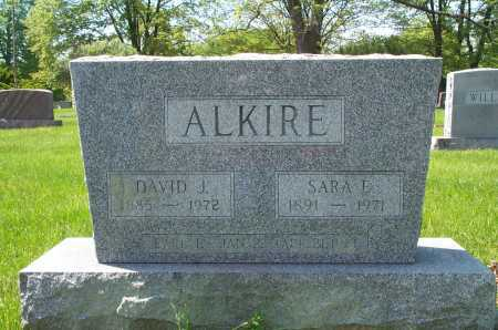 HOUSER ALKIRE, SARA E. - Franklin County, Ohio | SARA E. HOUSER ALKIRE - Ohio Gravestone Photos