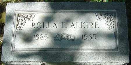 ALKIRE, ROLLA E - Franklin County, Ohio | ROLLA E ALKIRE - Ohio Gravestone Photos