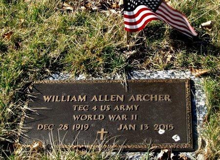 ARCHER, WILLIAM ALLEN - Franklin County, Ohio   WILLIAM ALLEN ARCHER - Ohio Gravestone Photos