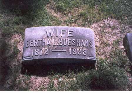 BECK BOESHANS, BERTHA L. - Franklin County, Ohio | BERTHA L. BECK BOESHANS - Ohio Gravestone Photos