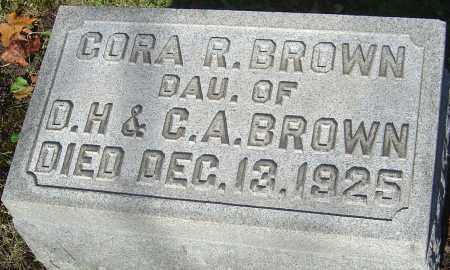BROWN, CORA R - Franklin County, Ohio   CORA R BROWN - Ohio Gravestone Photos