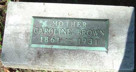 BROWN, CAROLINE - Franklin County, Ohio | CAROLINE BROWN - Ohio Gravestone Photos