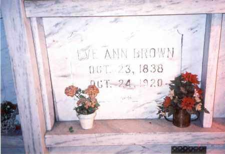 BROWN, EVE ANN - Franklin County, Ohio | EVE ANN BROWN - Ohio Gravestone Photos