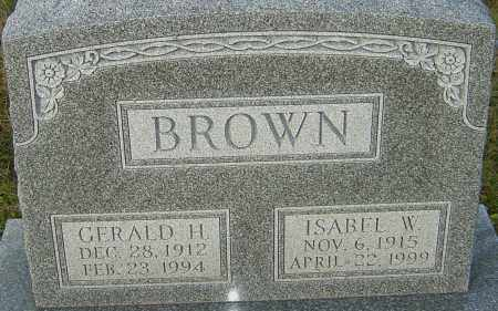 BROWN, ISABEL - Franklin County, Ohio | ISABEL BROWN - Ohio Gravestone Photos