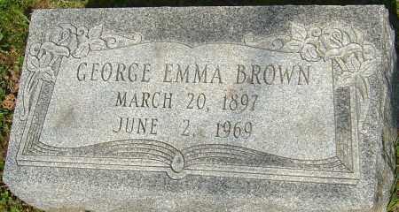 BROWN, GEORGE EMMA - Franklin County, Ohio   GEORGE EMMA BROWN - Ohio Gravestone Photos