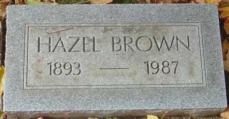 BROWN, HAZEL - Franklin County, Ohio | HAZEL BROWN - Ohio Gravestone Photos