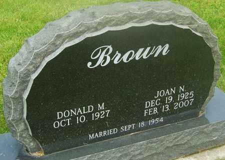 BROWN, JOAN N - Franklin County, Ohio | JOAN N BROWN - Ohio Gravestone Photos
