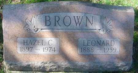 BROWN, HAZEL C - Franklin County, Ohio | HAZEL C BROWN - Ohio Gravestone Photos