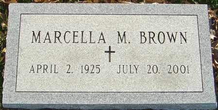 BROWN, MARCELLA M - Franklin County, Ohio   MARCELLA M BROWN - Ohio Gravestone Photos