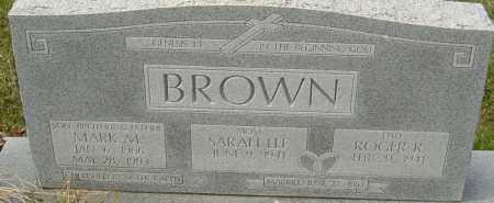 BROWN, MARK M - Franklin County, Ohio   MARK M BROWN - Ohio Gravestone Photos