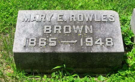 BROWN, MARY E. - Franklin County, Ohio | MARY E. BROWN - Ohio Gravestone Photos