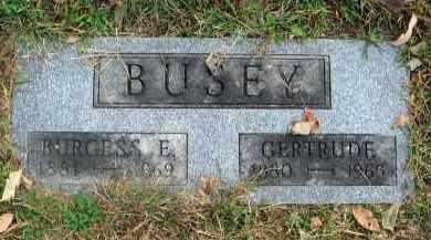 BUSEY, BURGESS E. - Franklin County, Ohio | BURGESS E. BUSEY - Ohio Gravestone Photos