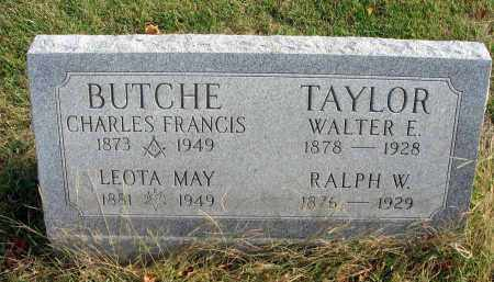 BUTCHE, CHARLES FRANCIS - Franklin County, Ohio | CHARLES FRANCIS BUTCHE - Ohio Gravestone Photos