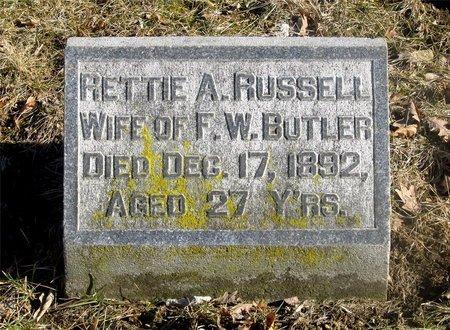 BUTLER, RETTIE A. - Franklin County, Ohio | RETTIE A. BUTLER - Ohio Gravestone Photos