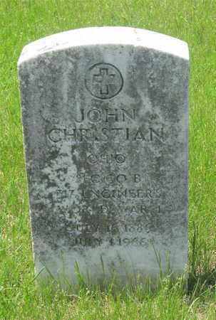 CHRISTIAN, JOHN - Franklin County, Ohio | JOHN CHRISTIAN - Ohio Gravestone Photos