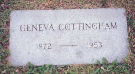 ISBELL COTTINGHAM, GENEVA - Franklin County, Ohio | GENEVA ISBELL COTTINGHAM - Ohio Gravestone Photos
