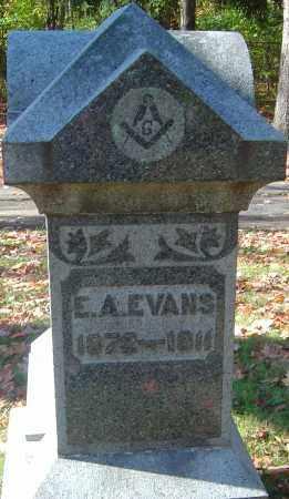 EVANS, E A - Franklin County, Ohio | E A EVANS - Ohio Gravestone Photos