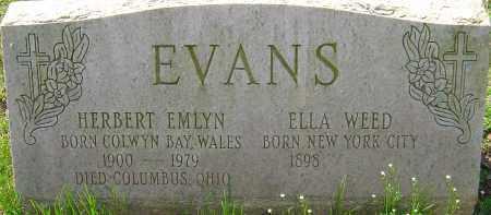 EVANS, ELLA - Franklin County, Ohio | ELLA EVANS - Ohio Gravestone Photos