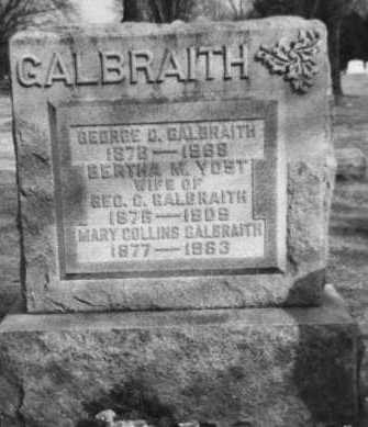 GALBRAITH, MARY - Franklin County, Ohio | MARY GALBRAITH - Ohio Gravestone Photos