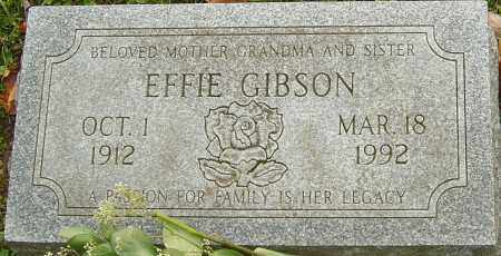 GIBSON, EFFIE - Franklin County, Ohio | EFFIE GIBSON - Ohio Gravestone Photos