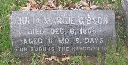 GIBSON, JULIA MARGIE - Franklin County, Ohio | JULIA MARGIE GIBSON - Ohio Gravestone Photos