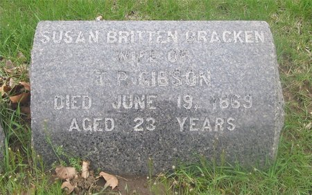 GIBSON, SUSAN BRITTEN - Franklin County, Ohio   SUSAN BRITTEN GIBSON - Ohio Gravestone Photos