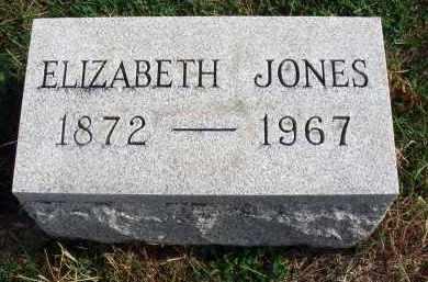 JONES, ELIZABETH - Franklin County, Ohio   ELIZABETH JONES - Ohio Gravestone Photos