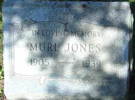JONES, MURL - Franklin County, Ohio   MURL JONES - Ohio Gravestone Photos