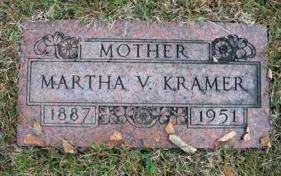 KRAMER, MARTHA V. - Franklin County, Ohio | MARTHA V. KRAMER - Ohio Gravestone Photos