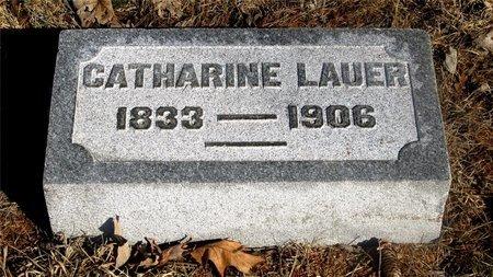 LAUER, CATHARINE - Franklin County, Ohio   CATHARINE LAUER - Ohio Gravestone Photos