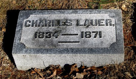 LAUER, CHARLES - Franklin County, Ohio | CHARLES LAUER - Ohio Gravestone Photos