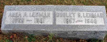 LEHMAN, DUDLEY S. - Franklin County, Ohio | DUDLEY S. LEHMAN - Ohio Gravestone Photos