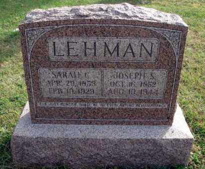 LEHMAN, JOSEPH S. - Franklin County, Ohio | JOSEPH S. LEHMAN - Ohio Gravestone Photos