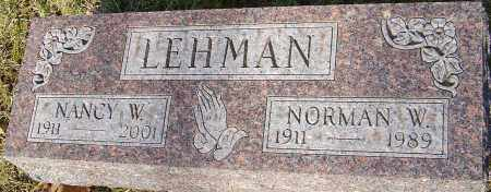 LEHMAN, NANCY - Franklin County, Ohio | NANCY LEHMAN - Ohio Gravestone Photos