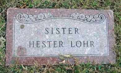 LOHR, HESTER - Franklin County, Ohio | HESTER LOHR - Ohio Gravestone Photos
