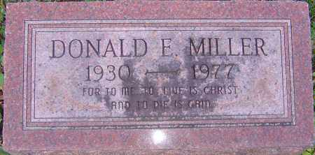 MILLER, DONALD E - Franklin County, Ohio   DONALD E MILLER - Ohio Gravestone Photos