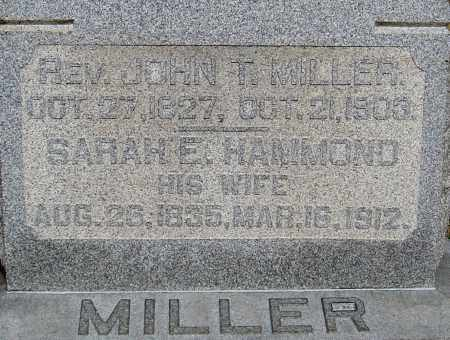 MILLER, JOHN T - Franklin County, Ohio | JOHN T MILLER - Ohio Gravestone Photos