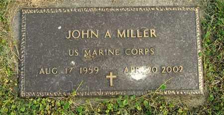 MILLER, JOHN A. - Franklin County, Ohio   JOHN A. MILLER - Ohio Gravestone Photos