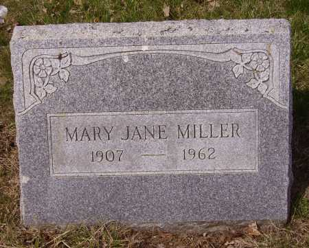 MILLER, MARY JANE - Franklin County, Ohio   MARY JANE MILLER - Ohio Gravestone Photos