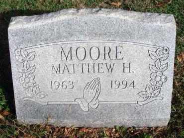 MOORE, MATTHEW H. - Franklin County, Ohio | MATTHEW H. MOORE - Ohio Gravestone Photos