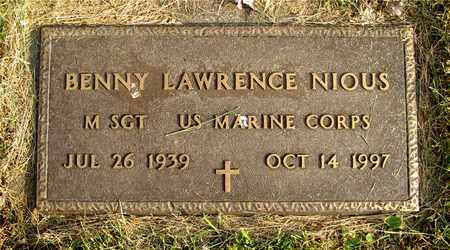 NIOUS, BENNY LAWRENCE - Franklin County, Ohio | BENNY LAWRENCE NIOUS - Ohio Gravestone Photos