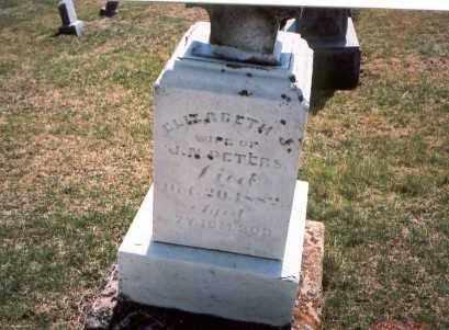 PETERS, ELIZABETH J. - Franklin County, Ohio | ELIZABETH J. PETERS - Ohio Gravestone Photos