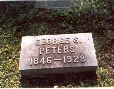 PETERS, GEORGE S. - Franklin County, Ohio | GEORGE S. PETERS - Ohio Gravestone Photos