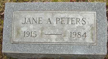 PETERS, JANE A - Franklin County, Ohio | JANE A PETERS - Ohio Gravestone Photos